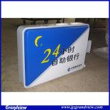 Light Box in acrilico self-service 24 ore su 24, montato a parete per il settore bancario