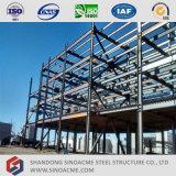 고층 사무실 건물 강철 구조물