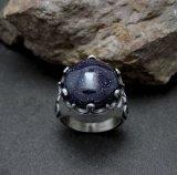 La gemme inoxidable de bijou de la boucle des hommes de luxe encastrent