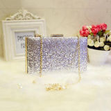 Venda Por Atacado Fancy Sequin Evening Bag Mulheres bolsas de embreagem com Long Shoulder Chain Eb804