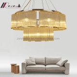Lampe pendante Chandlier de cercle simple moderne pour la salle de séjour
