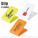 Clip plástico promocional con la impresión de la insignia del cliente