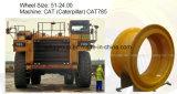 OTR en acier borde des roues de la taille 51-24.00-5.0 pour Cat785