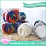 Bon marché De fils de laine peignée teints en fil organiques Machine à tricoter