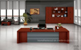 De moderne Lay-out van het Ontwerp met het Houten Uitvoerende Bureau van de Boekenkast (HF-FB16736)
