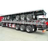 40feet 3車軸トラクターの平面大型トラックの半実用的なトレーラー