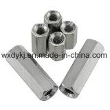 Noix de couplage Hex d'acier inoxydable DIN 6334