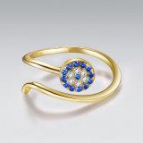Venta caliente toque de diseño anillo de plata con Cubic Zircon