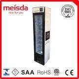 Visualização vertical da porta de vidro freezer