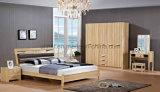 Bedstands (UL-LF021)를 가진 우아한 백색 현대 두 배 침실 가구