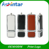 Unidade Flash USB de couro com logótipo em relevo
