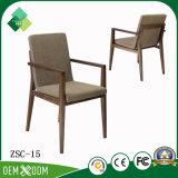 レストラン(ZSC-15)のためのチークの喫茶店の椅子の現代簡単な様式