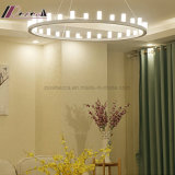 Lampe pendante de personnalité créatrice circulaire post-moderne de Droplight pour la chambre à coucher