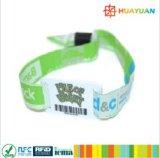 При отклонении от нормы фестиваль электронного билета печать штрих-кодов ПВХ ткани метки RFID запястья диапазона