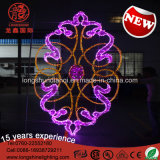 LED Flower Oriente Médio Celebração do dia nacional Street Pole Decorative Light for Outdoor
