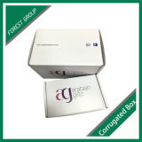 Boîte d'emballage blanche avec impression logo en gros