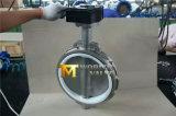Válvula de borboleta da bolacha da caixa de engrenagens de CF8m com assento de PTFE