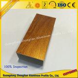 Perfil de alumínio Electrophoretic da grão de madeira de cristal da classe elevada