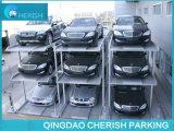 Sistema automatico dell'elevatore di parcheggio del pozzo dell'automobile semplice di tre strati