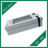 Boîte-cadeau blanche personnalisée de carton de taille