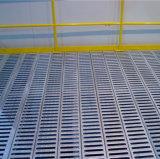 網の格子が付いている鋼鉄中二階床