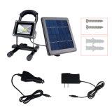 10W portatif d'urgence inondation de l'éclairage à LED solaire rechargeable