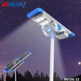 La plus populaire lampe de rue solaire LED 20W avec capteur de mouvement