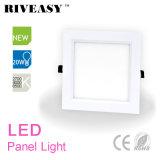 panneau acrylique d'éclairage LED de coin carré de la forme 20W avec la lampe de panneau de Ce&RoHS DEL