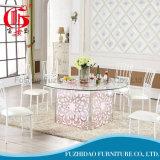 Металлические современного закаленного стекла свадьбы привели в таблице