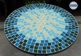 Les Bistros de mosaïque de fer travaillé ont placé la configuration bleue