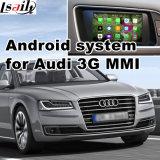 Caixa Android do sistema de navegação do GPS para a relação do vídeo do Mmi de Audi A8 3G