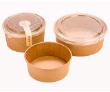 Soupe tasses jetables en papier kraft bol de soupe avec couvercle