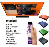 IPTV / Ott DVB-T2 DVB-S2 Récepteur TV Android 4.4 avec chaînes gratuites