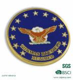 Pièce de monnaie molle d'émail de côtés de la coutume deux pour une société (B7)