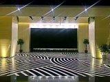 Mattonelle di pavimento di pietra di vetro cristallizzate Nano bianche e nere