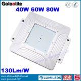 130lm/W 빛 5 년 보장 Meanwell 운전사 닫집 40W 60W 80W 주유소 닫집 LED