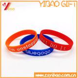 Bracelet solide de silicones de couleur d'impression de Deboss de qualité pour le cadeau de promotion (XY-SW-017)