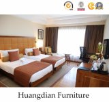 Conjunto de dormitorio de madera de las estrellas del anuncio publicitario 4 para los muebles del hotel (HD002)