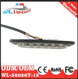 Lámpara dual ultra fina del montaje de la superficie de la fila 12 LED