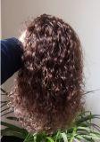 100% 유럽 자연적인 파도치는 Remy Virgin 사람의 모발 가발 꼬부라진 레이스 가발