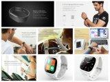 2017 silicón móvil Smartwatch del teléfono celular de la manera 4G con la tarjeta de SIM