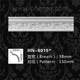 Cornice moldando do poliuretano da coroa decorativa branca para a decoração Home Hn-8015