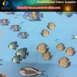 Beachwear (YH2145.2146)를 위한 폴리에스테 마이크로 섬유에 의하여 길쌈되는 직물의 물고기 인쇄