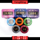 730PCS/Kristallbildschirm-Art-Schürhaken-Chipset mit in Aluminiumfall-Kasino-Chipset für 5 - 10 spielende Spiele Ym-Sjsy001