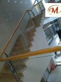 Decorado con una simple y elegante Laterales de Acero Inoxidable Varilla valla de vidrio templado para interiores, escaleras y Jardín al aire libre