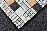 Form-Mosaik für Innendekor-Mosaik-Fliese-Kristallglas-Mosaik