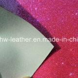 Синтетические Блестящие цветные лаки PU кожа для женщин и детей обувь Hw-844