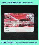 Cartão de PVC de quatro cores com cartão plástico com faixa magnética para membro