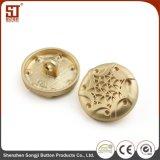 Botón redondo del metal del broche de presión del individuo de Monocolor para la chaqueta