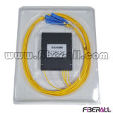 divisor ótico do PLC da fibra 1X4 com caixa do ABS